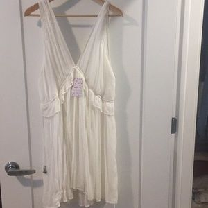 white free people dress- tags attached